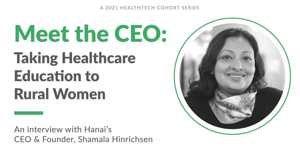 Meet the CEO of Hanai, Shamala Hinrichsen